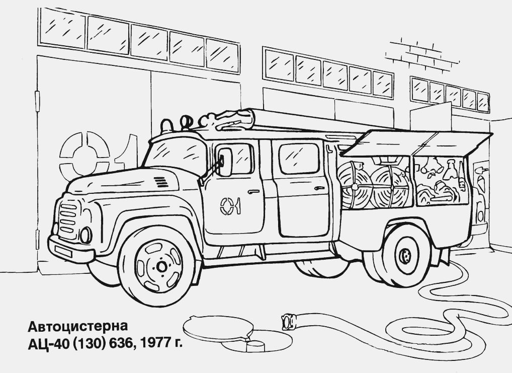 coloring pages fire strucks - photo#35