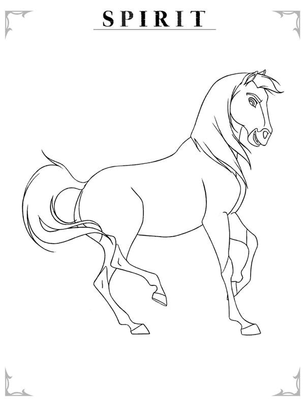 Spirit Stallion Of The Cimarron Coloring Page  Coloring Home