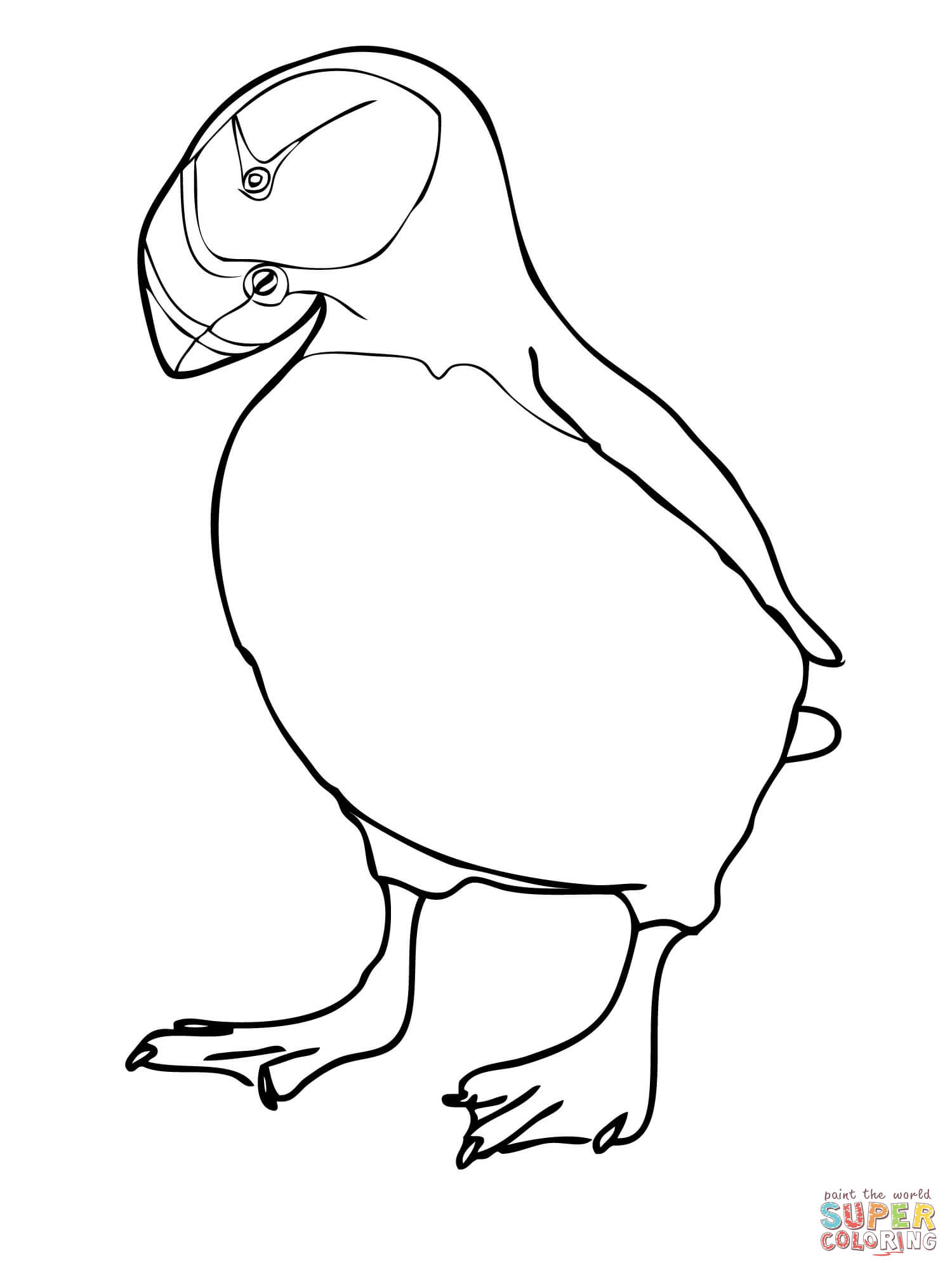 Puffin Coloring Pages Coloring Home