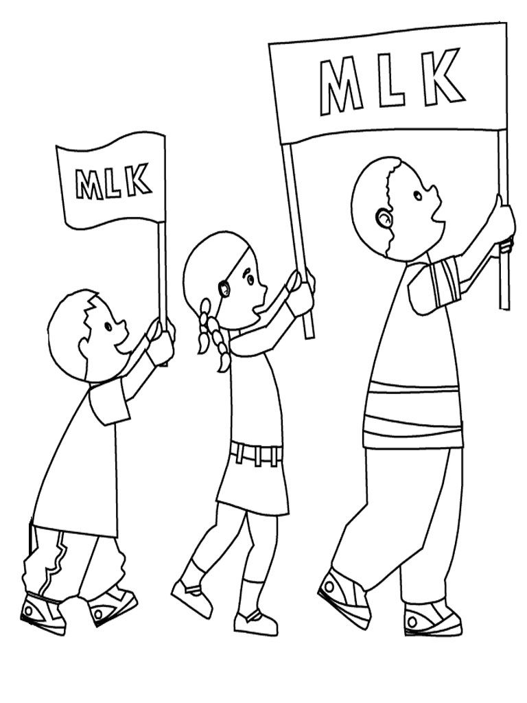 Martin Luther King March Coloring Sheet | Realistic Coloring Pages