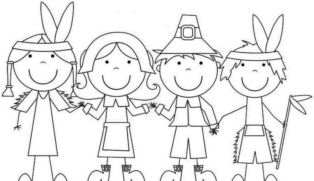 Pilgrim Hat Coloring Pages Thanksgiving Ginormasource Kids