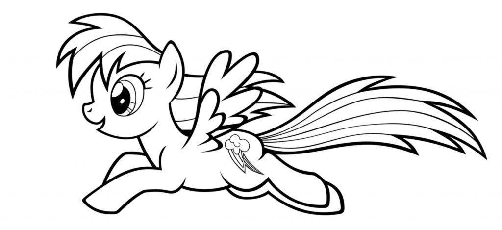 Coloring Pages For Rainbow Dash  Coloring Home