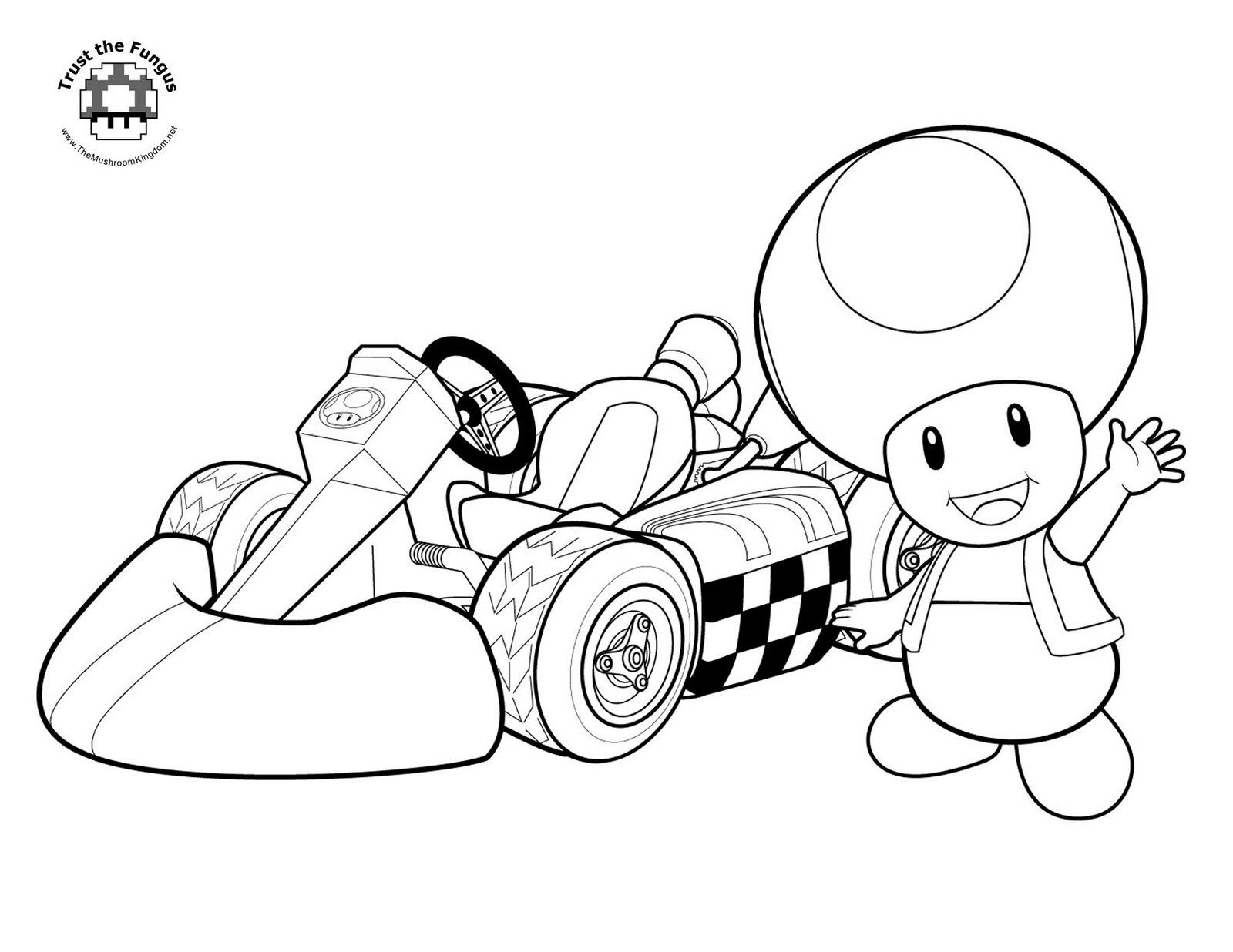 Mario kart coloring pages printable - Free Printable Coloring Pages Mario Kart High Quality Coloring Pages