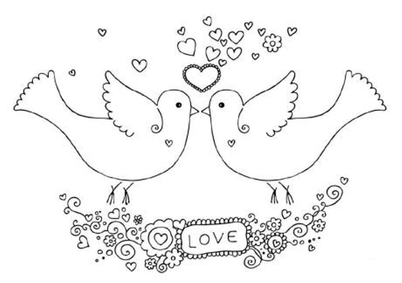Bird Coloring Page Dove | Animal Coloring Pages Of PagesToColoring ...