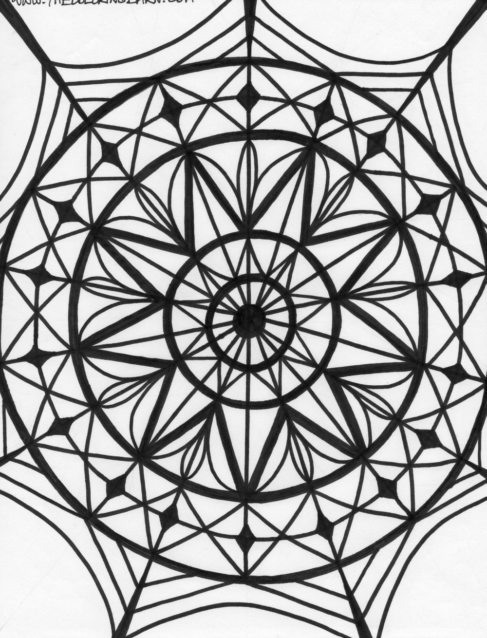 Best Photos Of Kaleidoscope Printable Coloring Pages