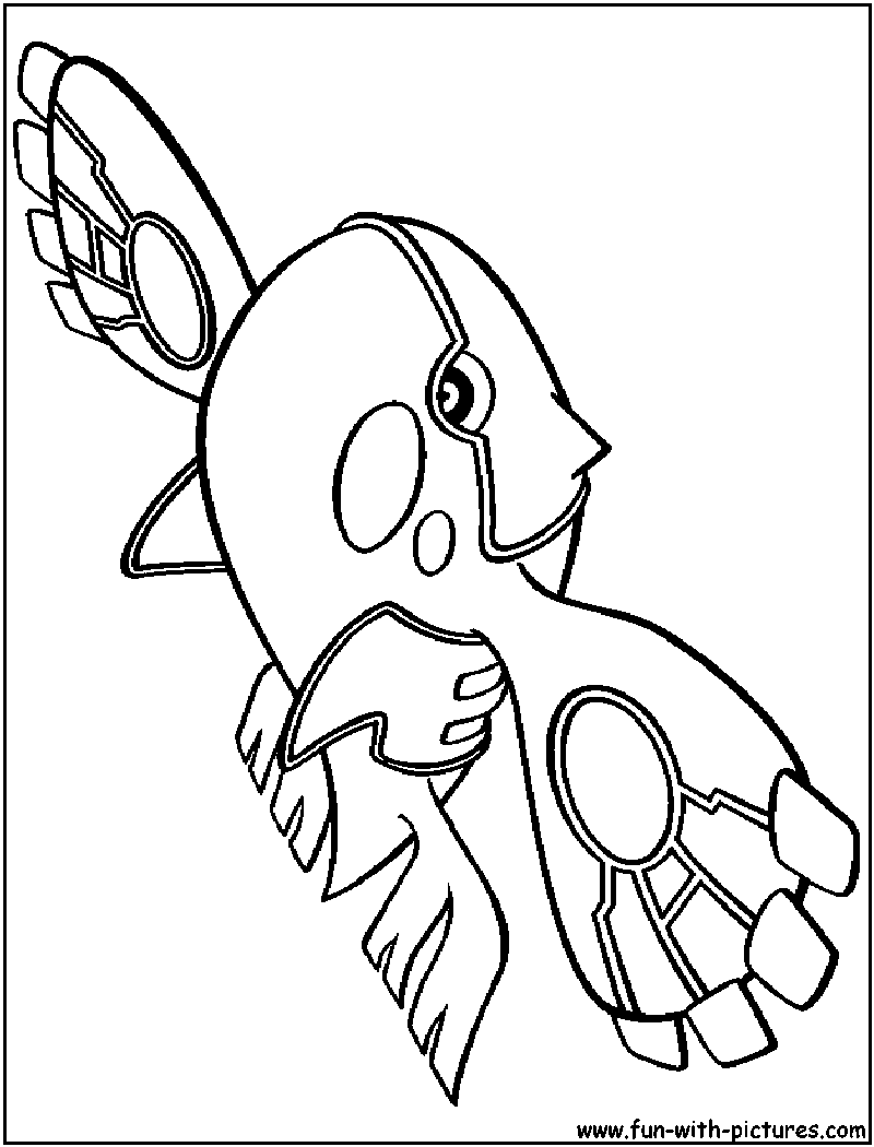 Primal Kyogre Coloring Page kyogre coloring pages - coloring home