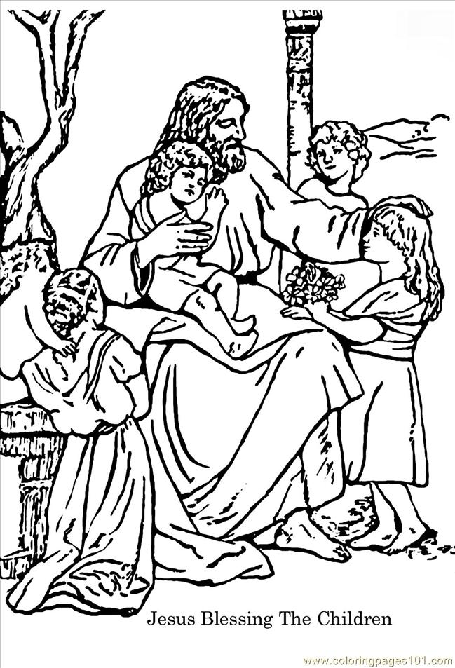 Jesus Loves The Little Children Coloring Pages  Coloring Home
