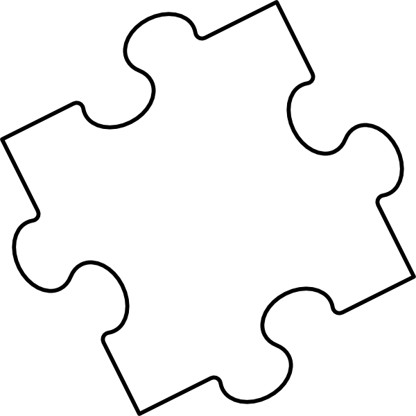 puzzle piece outline coloring pages - photo#9