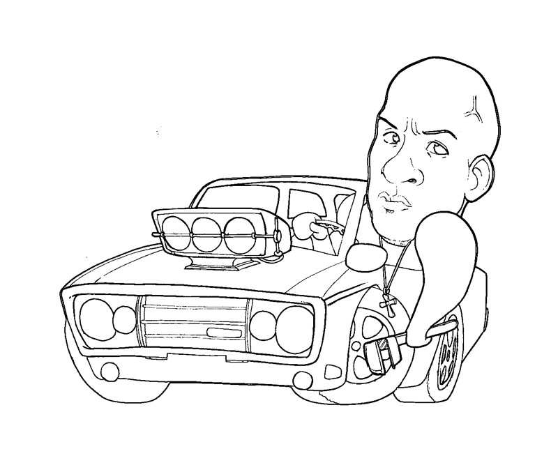 Fast N Furious Coloring Page