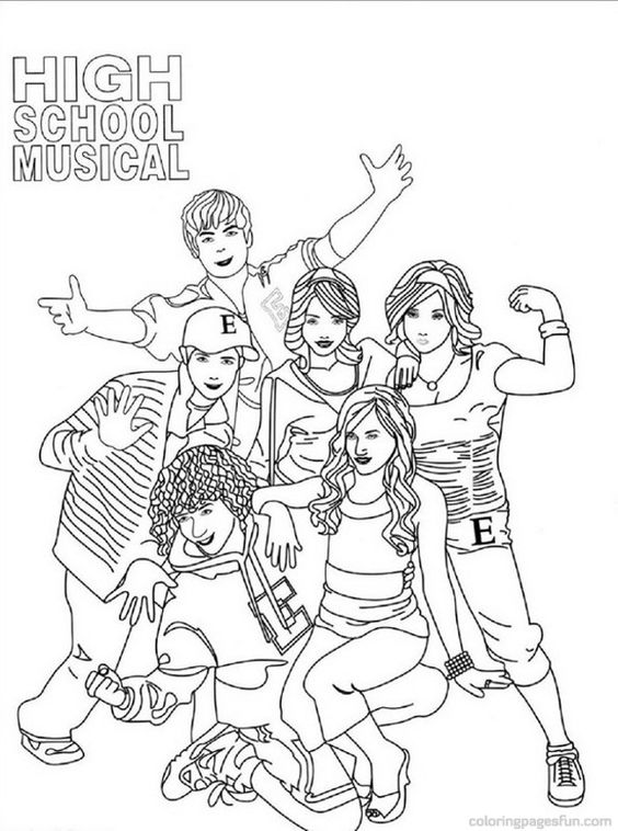 High School Musical Coloring Pages To Print Image Gallery HCPR