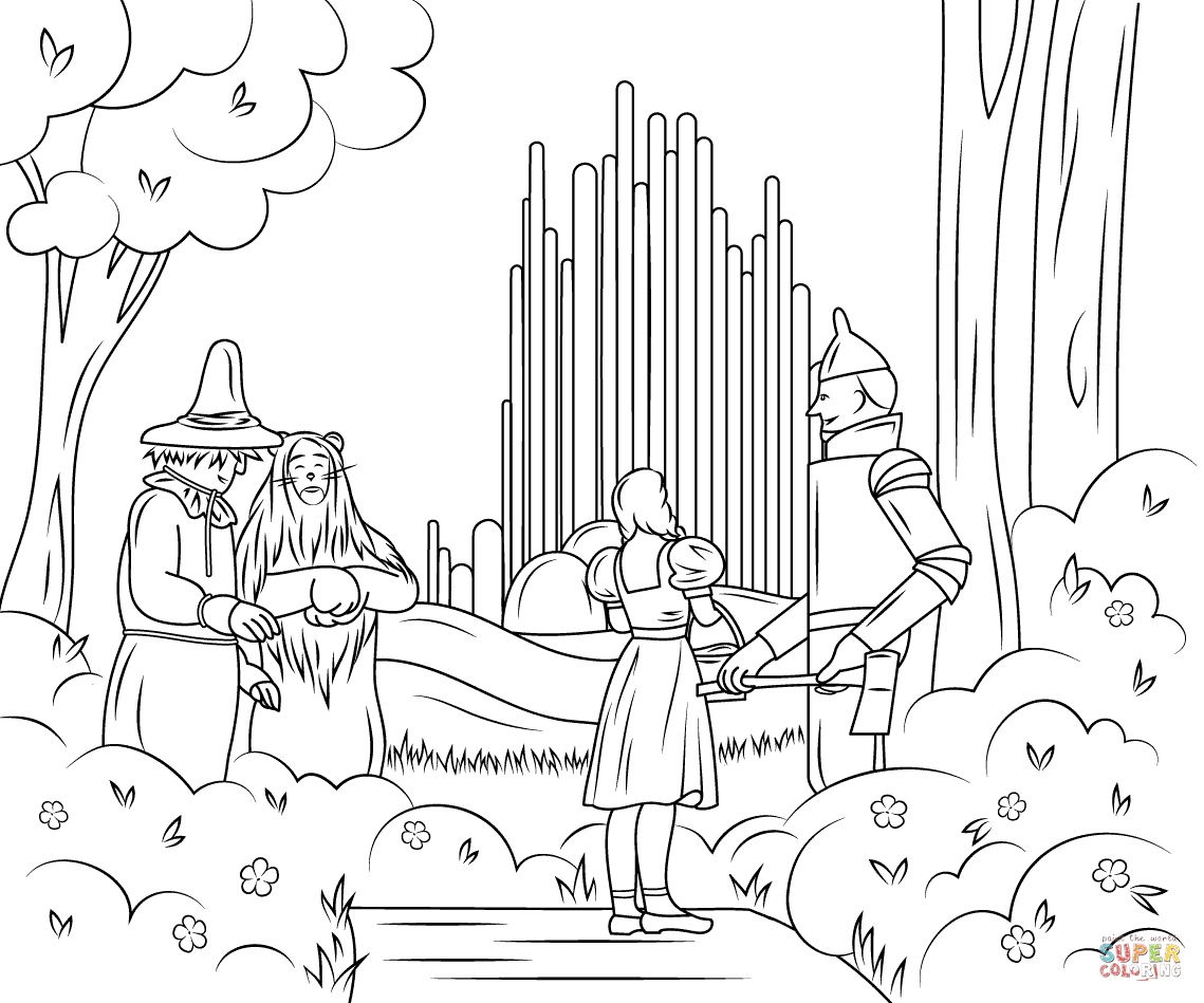 Wizard Of Oz Coloring Pages Free Coloring Home Wizard Of Oz Printable Coloring Pages