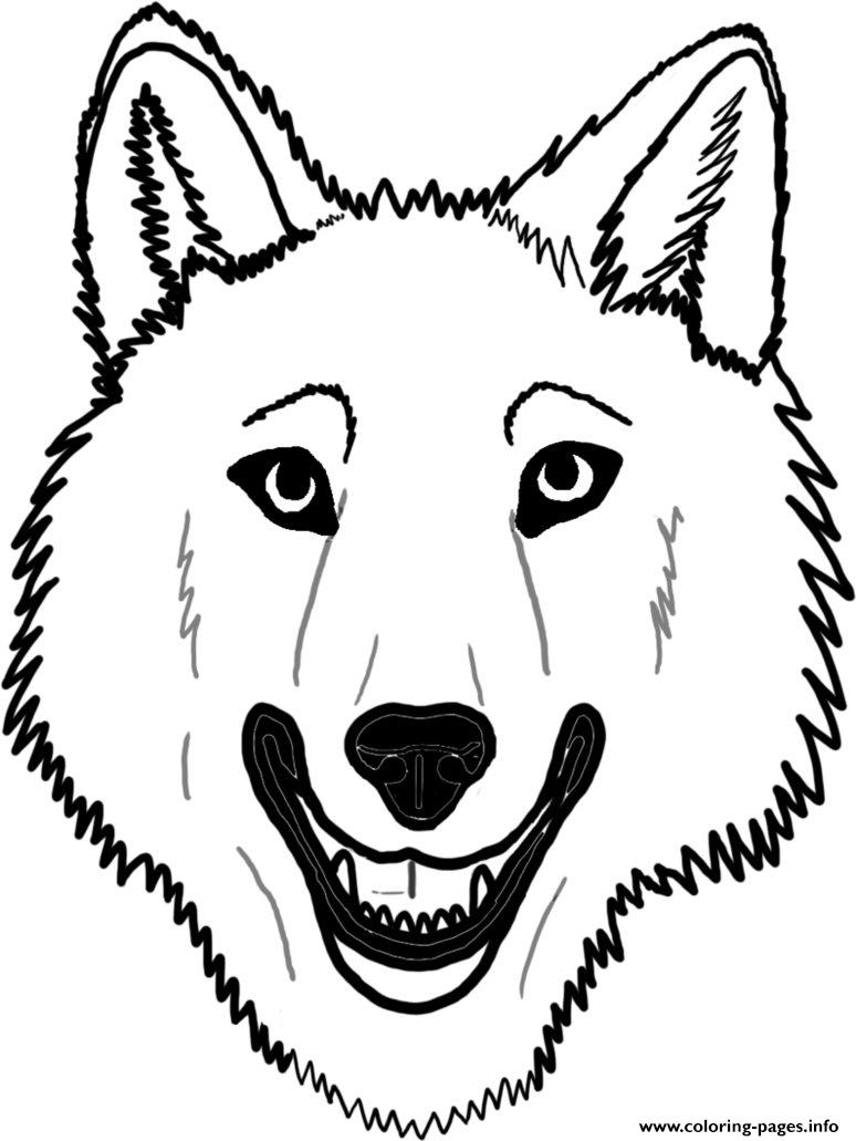 Wolf Face Coloring Page AZ Coloring