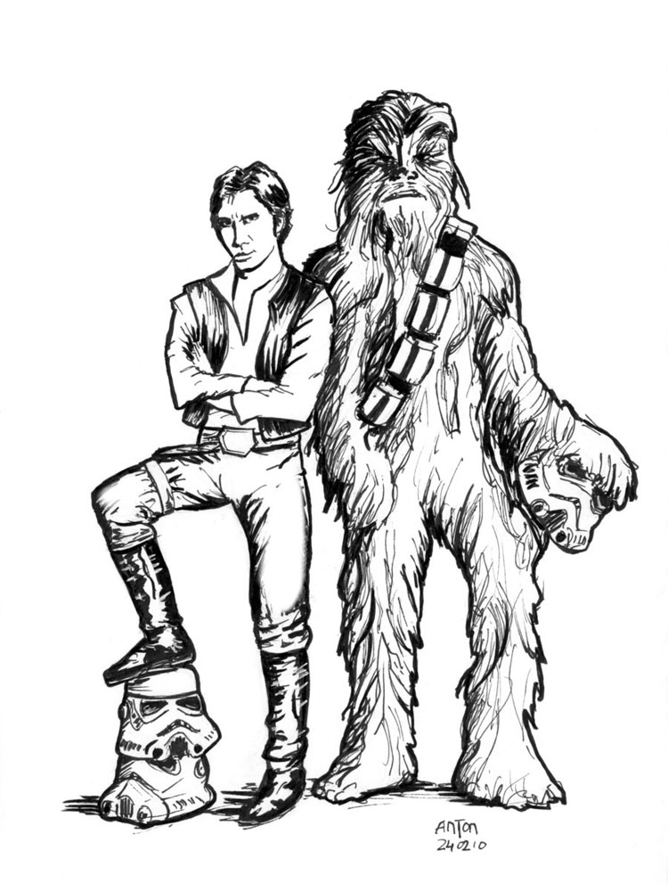 Han Solo Coloring Page  Coloring Home