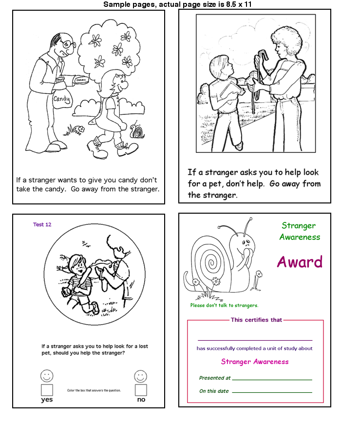 stranger danger coloring pages printables - photo#16