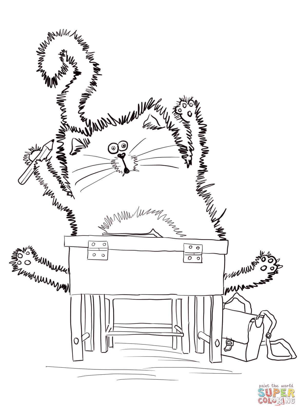 Splat the Cat Back to School coloring page | Free Printable ...
