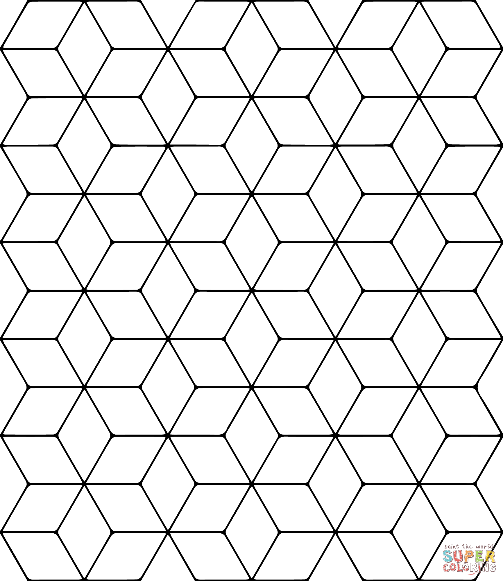 Coloring pages tessellations coloring home for Tessellation coloring pages free printable