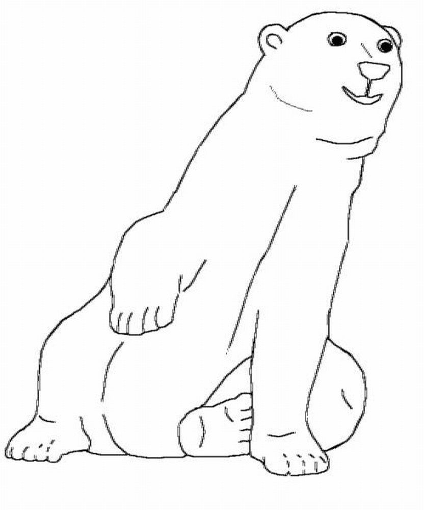 Printable Polar Bear Coloring Pages Coloring Me Coloring Home