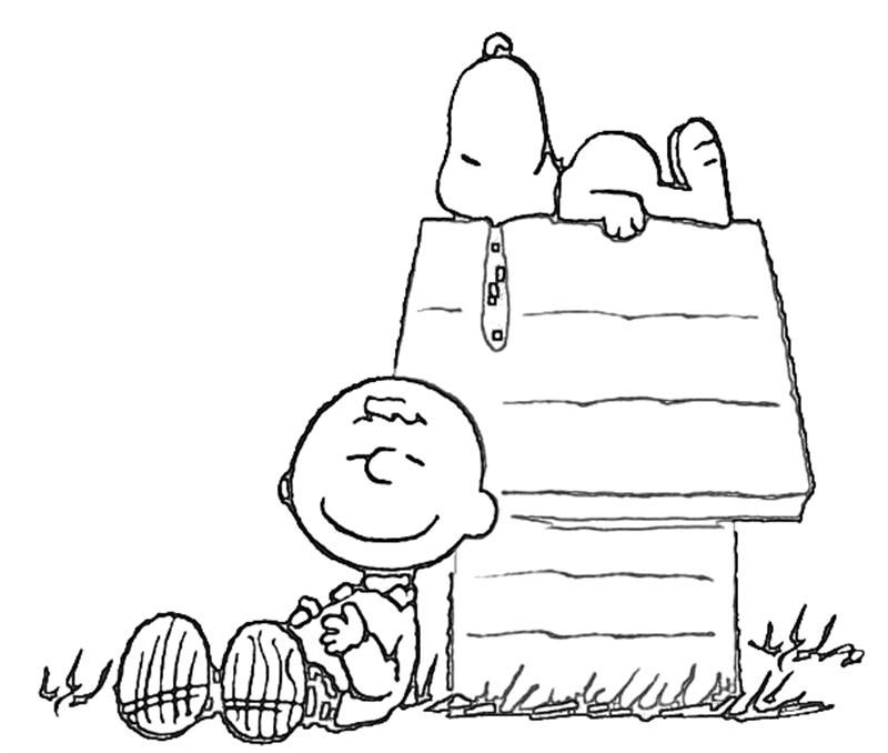 Snoopy Coloring Page Charlie Brown Pictures