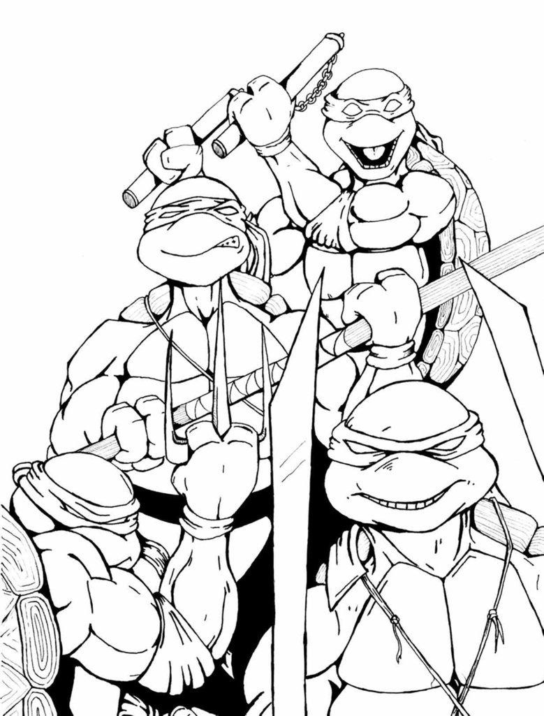Printable Coloring Pages For Boys Ninja Turtles | Coloring Online