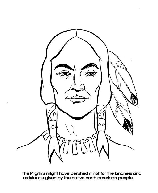thanksgiving indian coloring pages printable - photo #32
