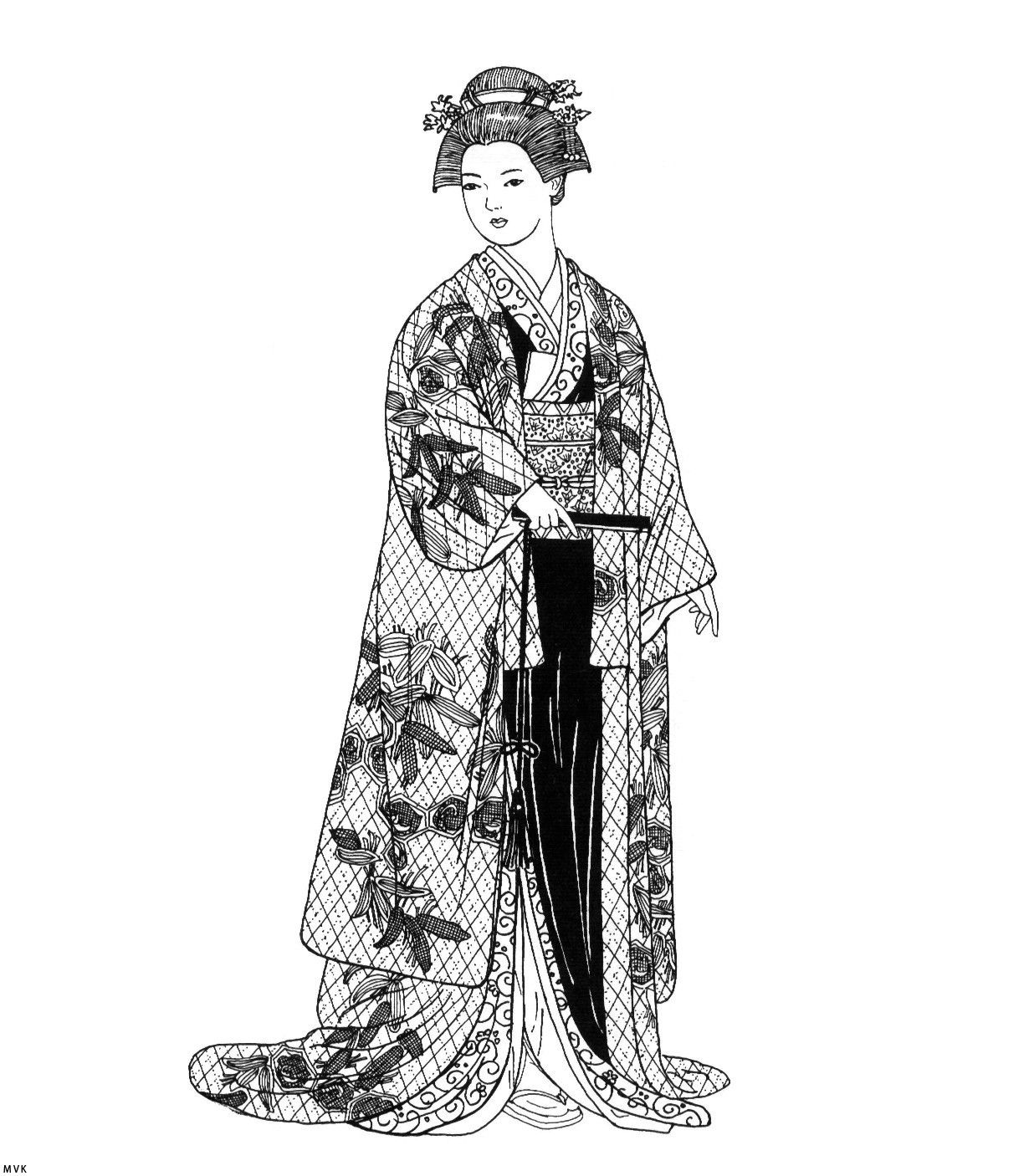 japanese coloring pages for adults - photo#35