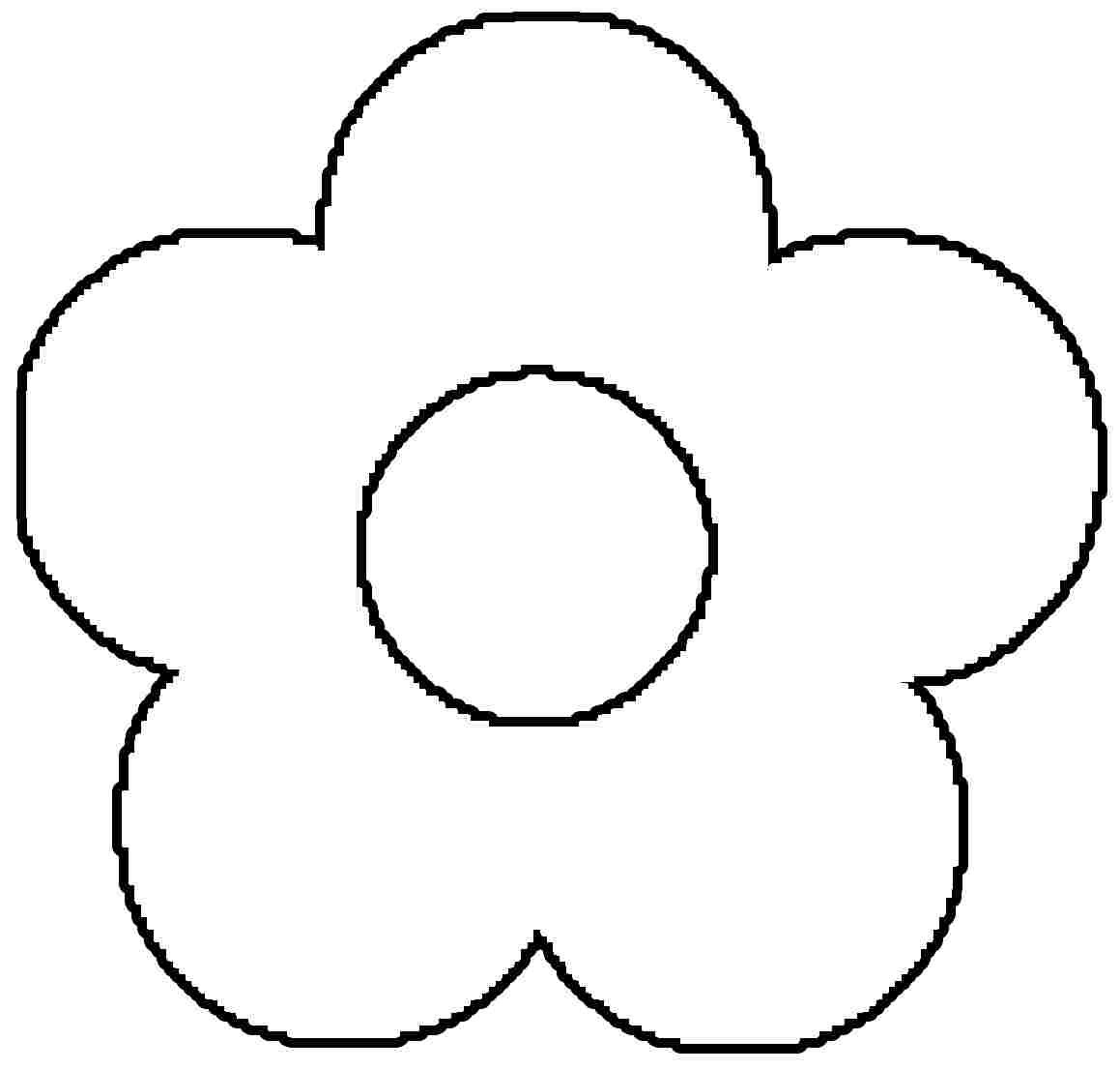 outline pictures flowers coloring pages for kids | Free Flower Coloring Pages For Kids - Coloring Home
