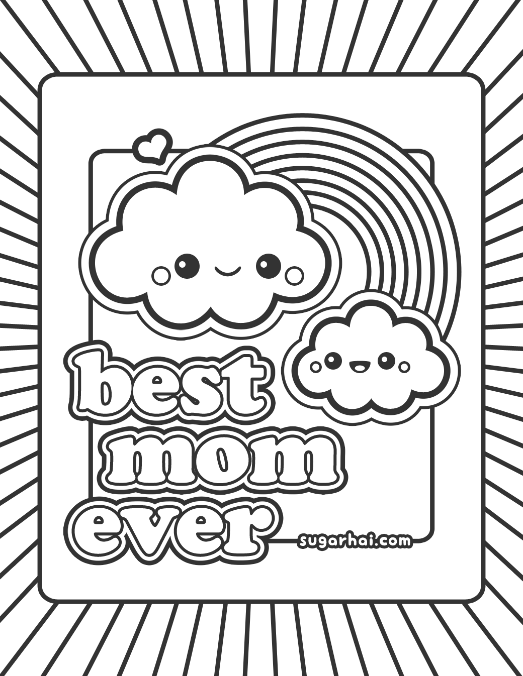 coloring pages mom and kids - photo#17