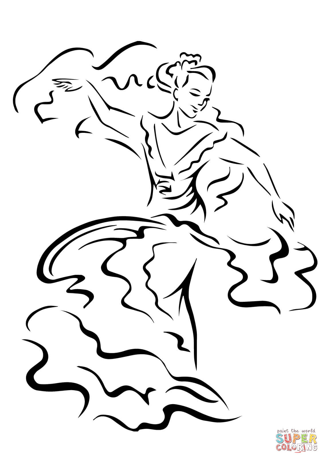 coloring pages flamenco dancers - photo#29