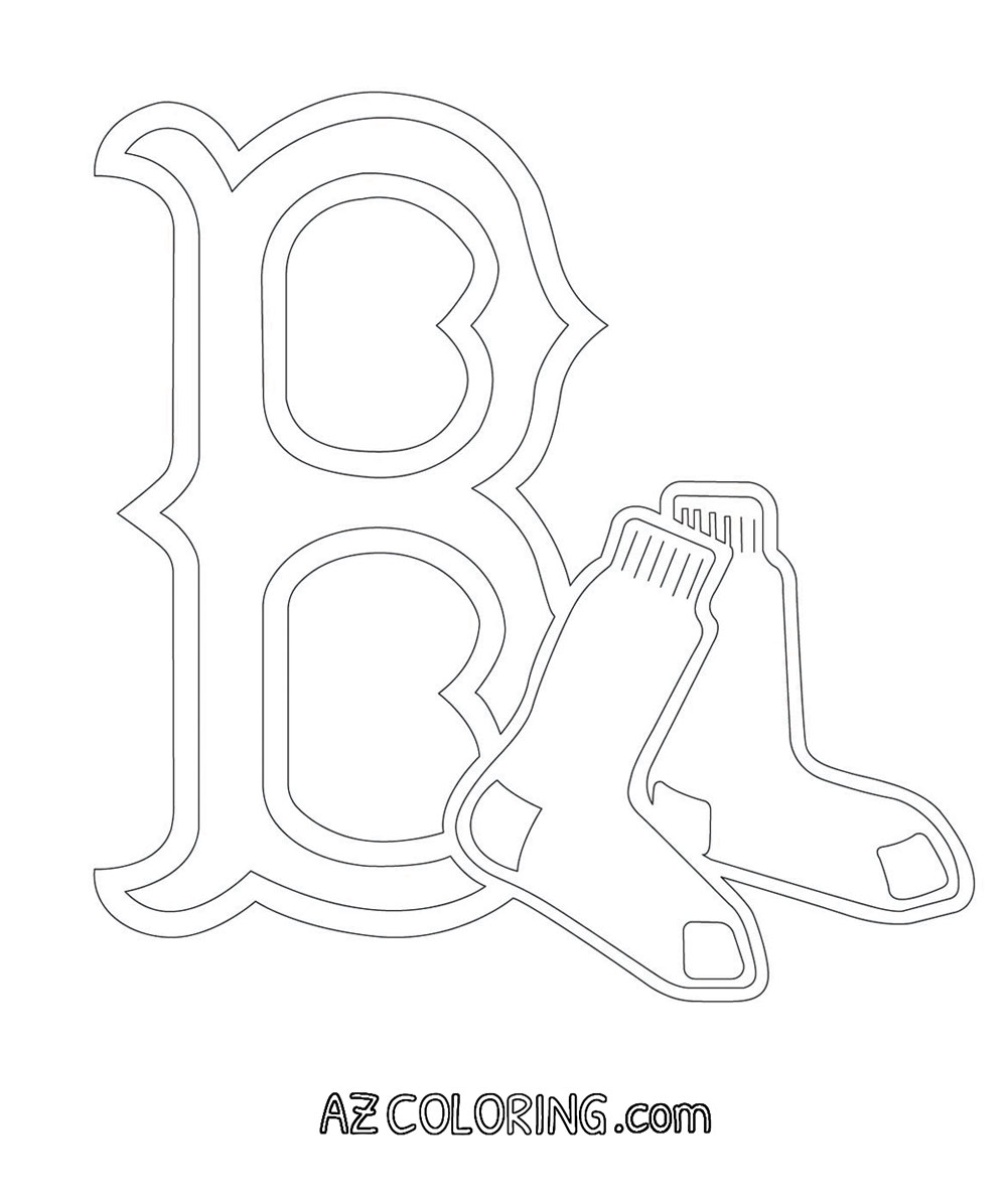logo red sox coloring pages - photo#9