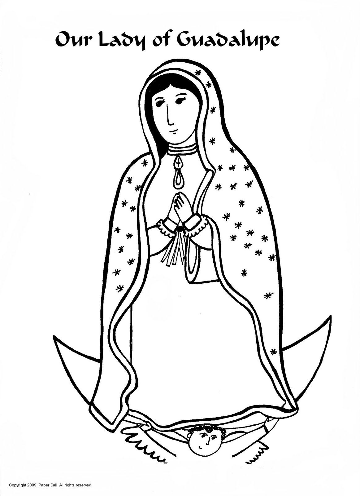 La virgen de guadalupe coloring pages coloring home for Virgen de guadalupe coloring pages