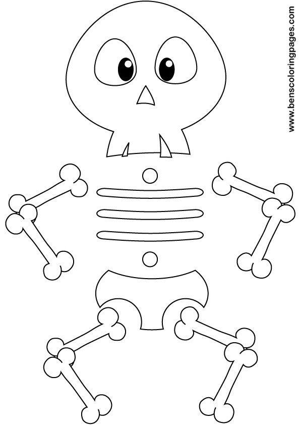Skeleton Coloring Pages For Kids - Coloring Home