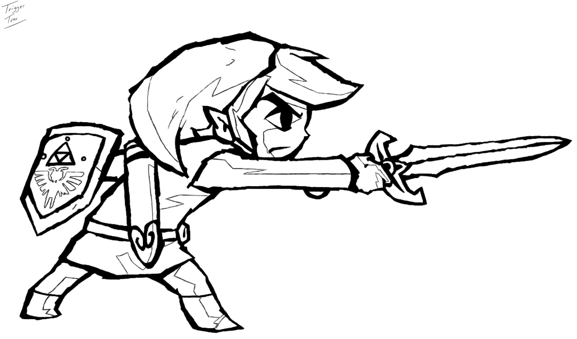 Coloring Pages Zelda : The legend of zelda coloring pages az