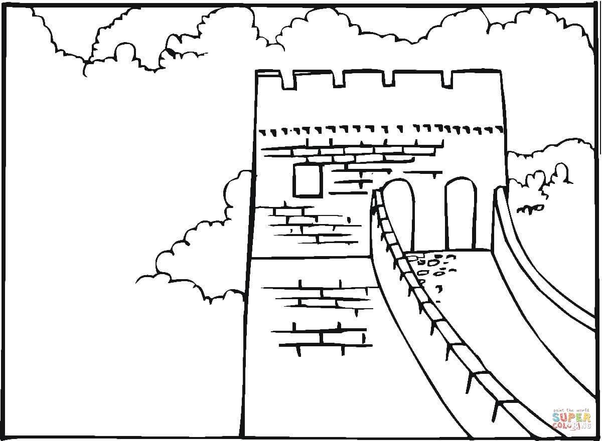 Coloring sheet great wall of china - Great Wall Of China Coloring Page