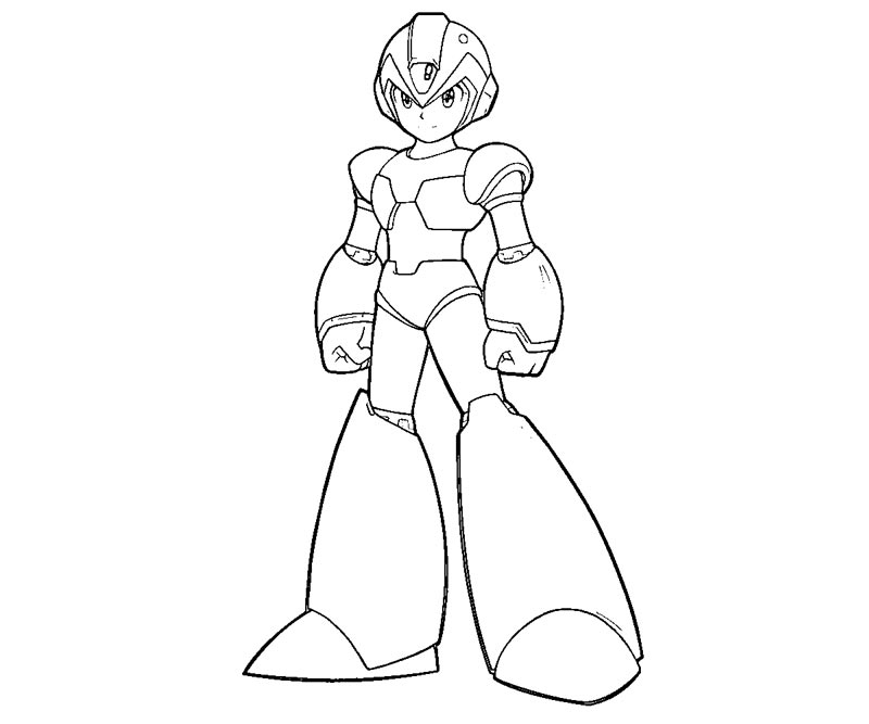 Megaman X Coloring Pages Coloring Home