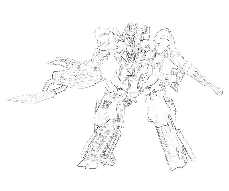 Transformers fall of cybertron megatron transformers for Transformers coloring pages megatron