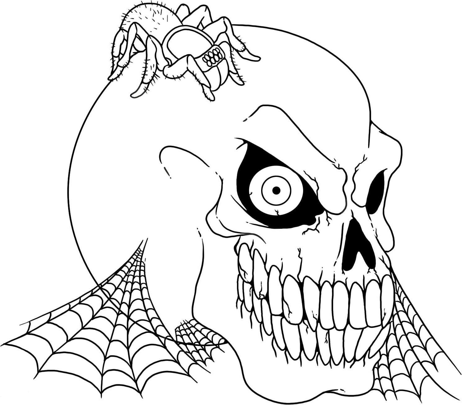 Scary Cartoon Coloring Page Home