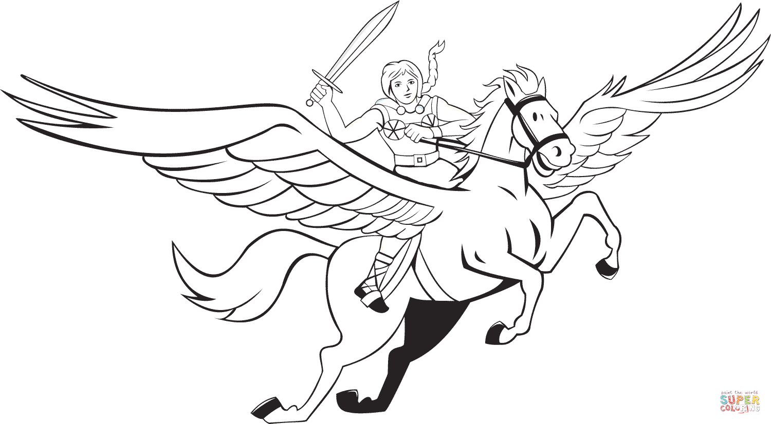 coloring pages of pegasus  coloring home