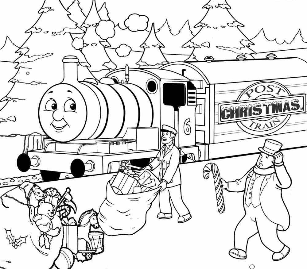 Christmas Train Coloring Pages Toy Coloring Home