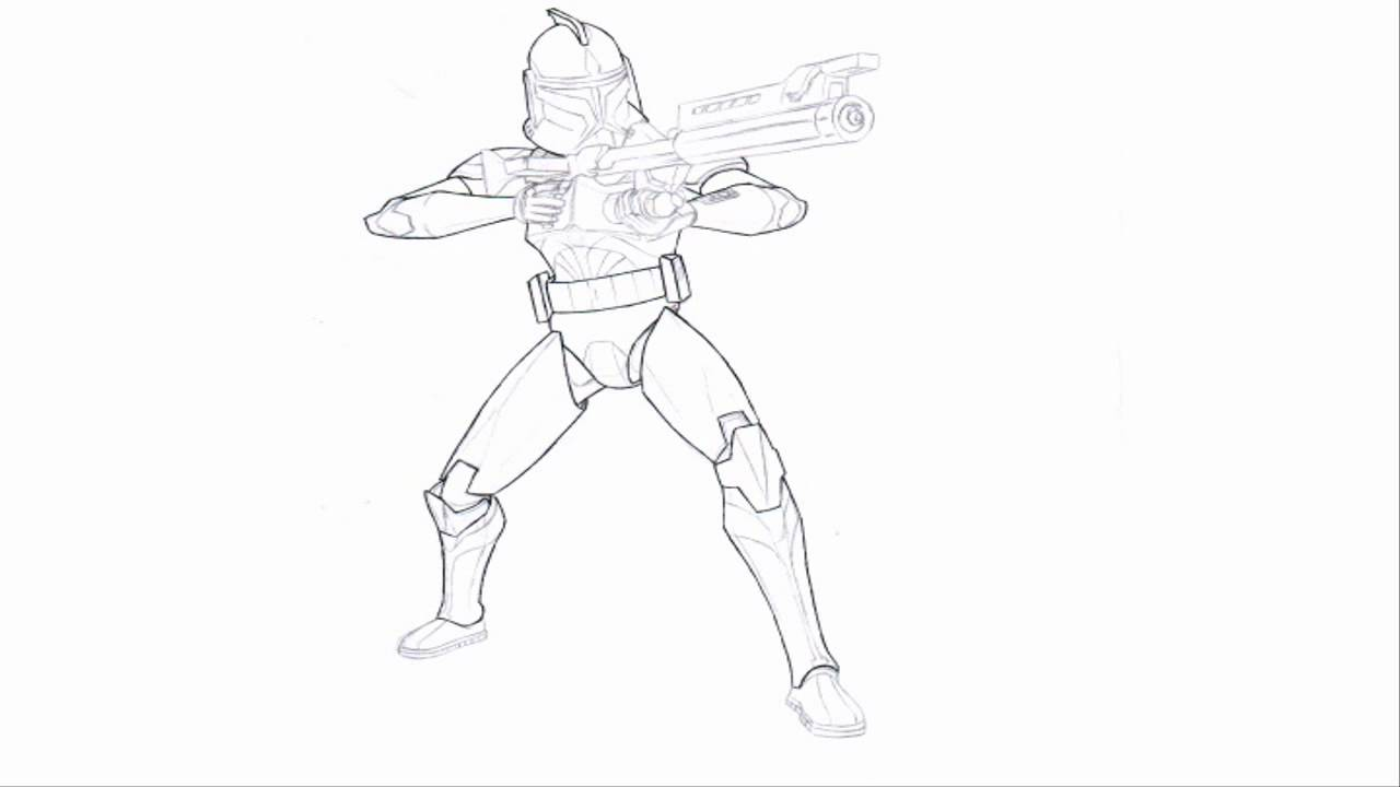 Free Coloring Pages Captain Rex - Coloring Home