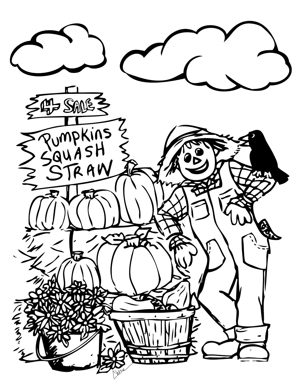 Pumpkin Patch Coloring Pages Printable - Coloring Home