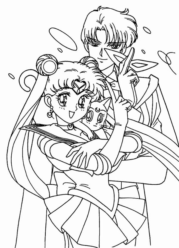 Sailor Moon Luna Coloring Pages Coloring Home