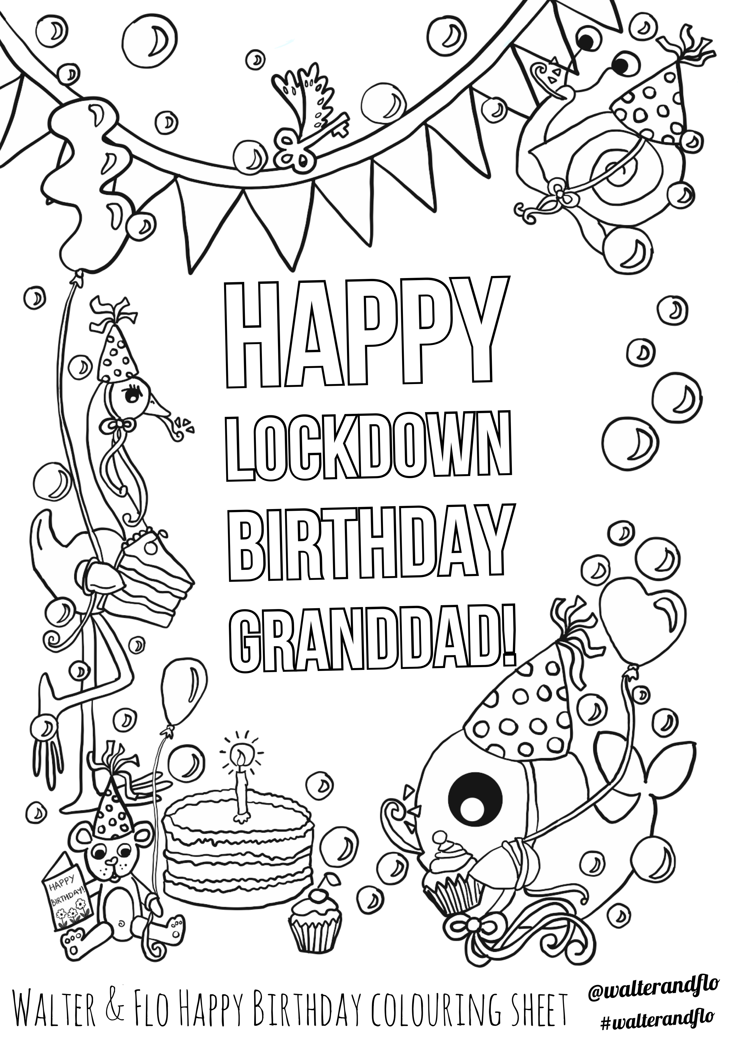 Happy birthday granddad colouring page ...pinterest.co.uk