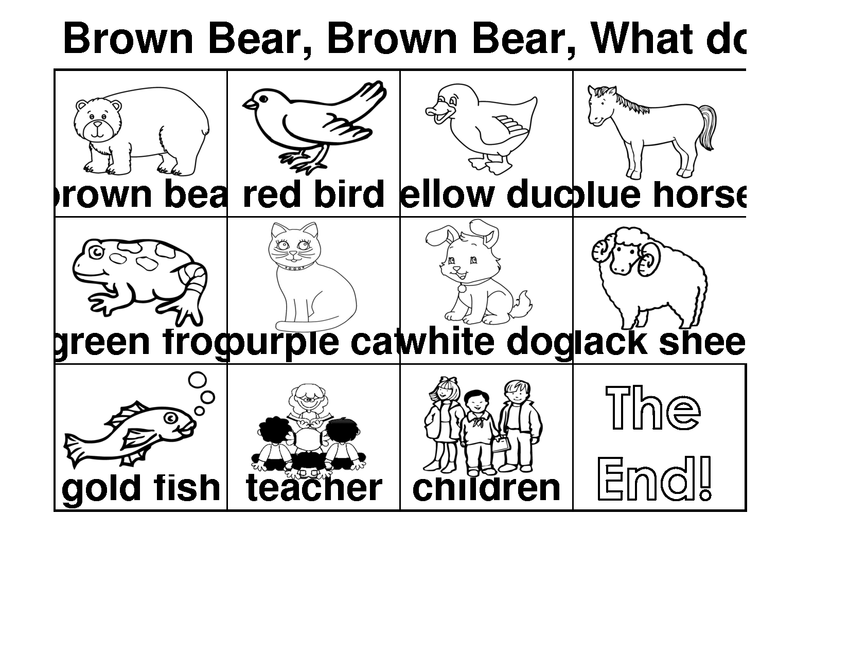 Brown Bear Coloring Page Eric Carle Coloring Home