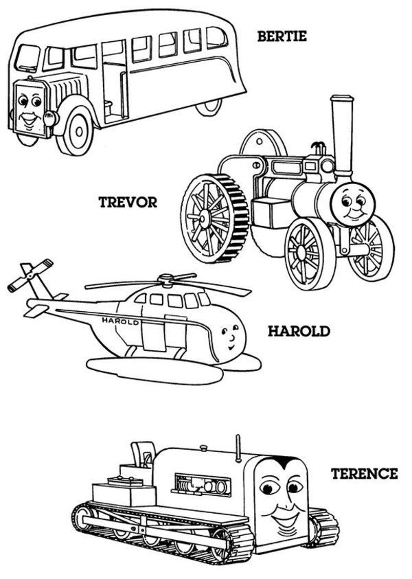 Thomas The Train Easter Coloring