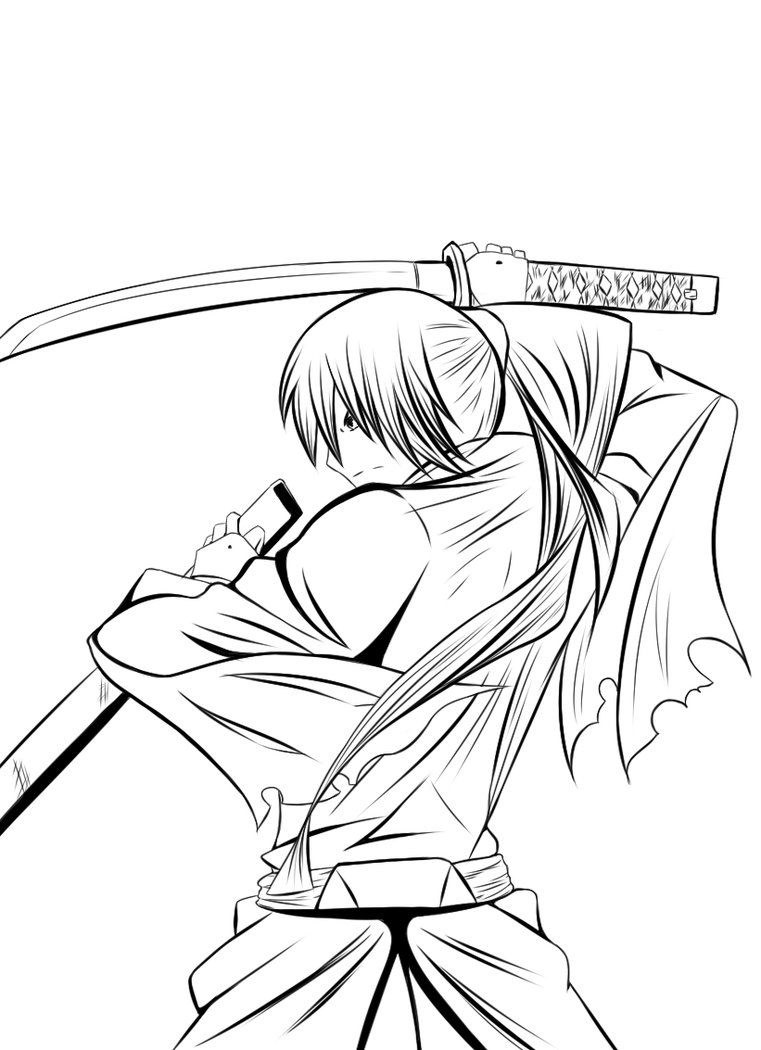 coloring pages for rurouni kenshin - photo#14