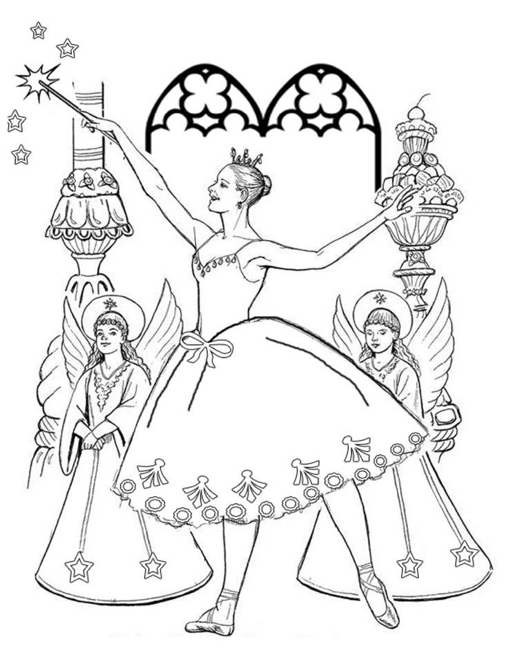 simple nutcracker coloring pages - photo#31