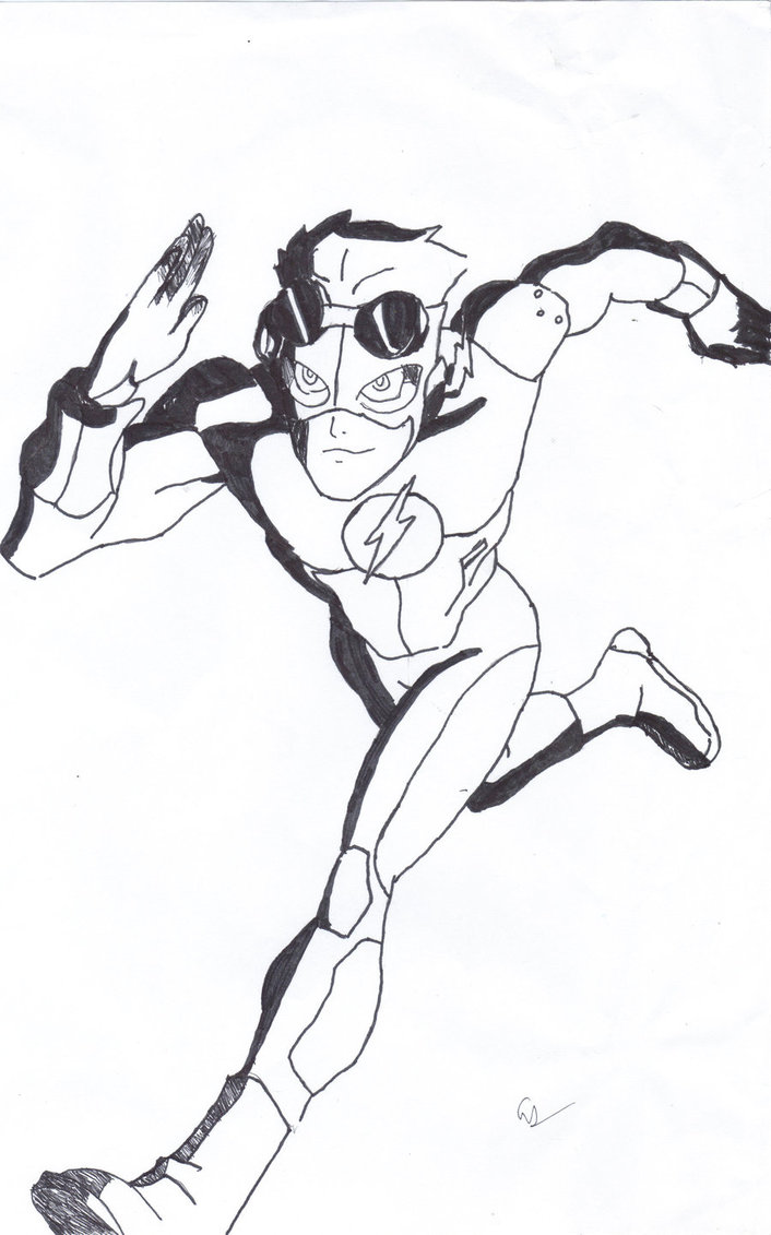 dc flash coloring pages - photo#26