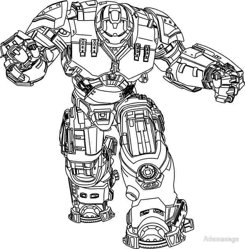 Hulk Buster Coloring Pages - Coloring Home