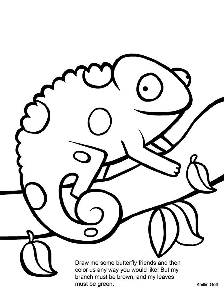 mixed up chameleon coloring page - coloring home - Chameleon Coloring Pages Printable