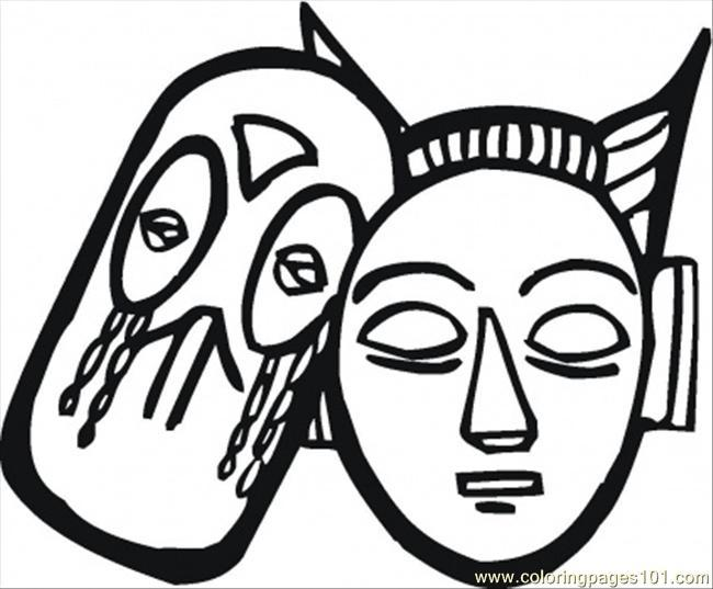 african tribal mask coloring pages - photo#20